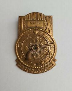 1941 Tom Mix Straight Shooters America Decoder Badge Pin Ralston Radio Premium