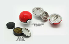 Pokeball Tobacco Herb Grinder Zinc Alloy Pokemon Go 55mm SHIPS FROM USA + BONUS