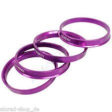 4 Centering Rings Anodized Aluminium Aluminum 72,5-66,6 Smoor,X-Tra Wheels,