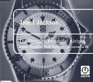 JANET JACKSON THE PLEASURE PRINCIPLE/ALRIGHT RMXS LTD ED CD UK A&M:PM 581 767-2