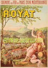 """"""" Sncf """" PLM - Royat (63 Puy de Dome) Tourisme   - affiche plastifiée"""