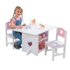 Kidkraft Heart Play Table with storage boxes, Kids Wooden Table and Chairs