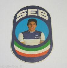 VECCHIO ADESIVO BICICLETTA / Old Sticker Bike SEB FRANCESCO MOSER (cm 7 x 12)