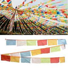 5M/196.9'' Tibet Tibten Buddhist Buddha Colorful Wind Horse Prayer Flags Cloth