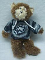 "Philadelphia Eagles NFL TEDDY BEAR IN HOODIE 9"" Plush STUFFED ANIMAL Toy"