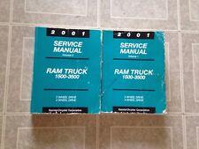 2001 DODGE RAM TRUCK 1500 2500 3500 DIESEL SERVICE WORK SHOP REPAIR MANUAL BOOKS