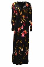 Coast black floral print maxi dress