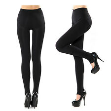 Women's Mid Waist Stirrup Fitted Leggings Nylon Stretchy Skinny Pencil Pants