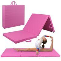 High-Density EPE Foam Thick Soft Tri-Fold Panel Gymnastics Mat Yoga Fitness
