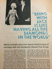 Jack Lord, Hawaii Five-O, Three Page Vintage Clipping