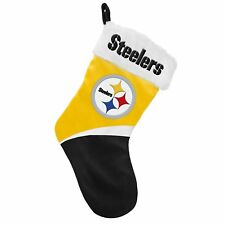 "Pittsburgh Steelers Football NFL Basic Logo 17"" Holiday Christmas Knit Stocking"