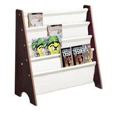Wooden Sling Bookcase - Magazine Book Display Kids Bedroom Storage Bookshelf