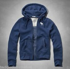 Abercrombie & Fitch Blue Moose LOGO Hoodie Jacket XL Extra Large NeW Stony Creek