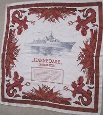 HERMES SILK  SCARF Jeanne d'Arc- Croiseur école D'application  P. Ledoux c1957