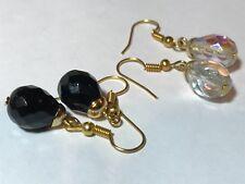 Crystal Earrings W/Hooks 2 Sets Beautiful Vintage