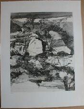 Gravure de Ronald ABRAM signée numérotée 1963 Biennale de la gravure Paris