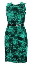 MICHAEL KORS Emerald Green Duquette's Iconic Malachite Print Coktail Dress 4
