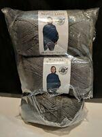 3 Skeins Loops & Threads Woolike Yarn Color #2 Charcoal 3.5 oz 678 Yds Crochet
