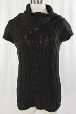 Esprit Damen-Pullover mit mittlerer Strickart und Knöpfen