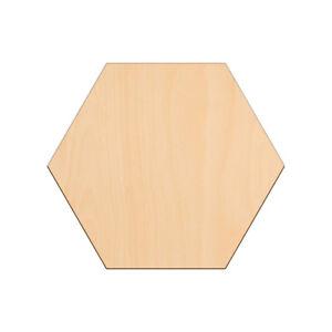 HEXAGON Shape Craft Blank 25x0.3cm BIRCH Wooden Decoration Embellishments Tags