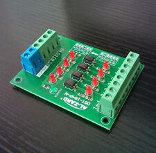1pc 4Bit Optocoupler Isolator 5V to 24V PLC Signal Converter Board