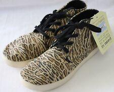 TOMS ~ Unisex Leopard Print Canvas High Top Sneakers NWT W 5 EU 35