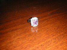 NWOT Jewels by Park Lane Statement Ring 10 carat Pink & Clear CZ's size 9.75