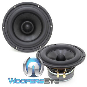 """CDT AUDIO HD-M6+ DVC 6.8"""" 120W RMS LONG EXCURSION SUBWOOFERS BASS SPEAKERS NEW"""