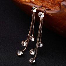 Personality Design Drop Earring Brief Crystal Earrings Tassel Long Rhinestone