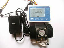 "G 2"" 2 inch Flow Water Sensor Meter+LCD Display Controller 5-300L/min+24V Power"