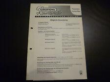 Original Service Manual Grundig Transistor Luxus Boy