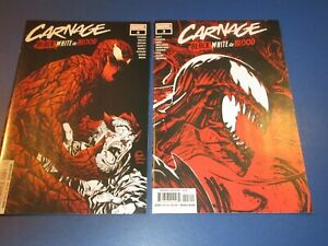 Carnage Black White and Blood #3,4 lot of 2 NM Gems