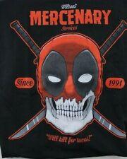 Marvel Deadpool T-Shirt Black Mercenary Services Will Work for Tacos Size XL