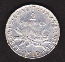 2 FRANCS 1910 FRANCE Semeuse - argent / silver (01)