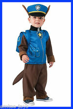 Paw Patrol Chase Child Size S 4/6 Nickelodeon Costume Outfit Rubie's