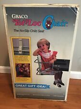 NEW GRACO TOT LOC CHAIR OLD STOCK Vintage Lock On Table No Slip Child High Chair