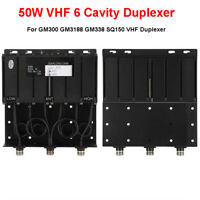 50W VHF N-Connector 6 Cavity Duplexer for GM300 GM338 SQ150 Kenwood VHF Duplexer