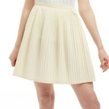 Fred Perry Womens Pleated Tennis Skirt Cream UK14 NWT €113.95 Embroidered Logo