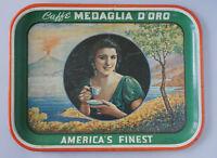 ANTIQUE CAFFE MEDAGLIA D'ORO TRAY 1939 WORLD'S FAIR