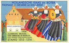 POSTCARD     ADVERTISING  NETHERLANDS      HOLLANDSCHE  KAAS  en  BOTER  1936