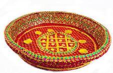 Decorative Tray Chaab Sequins Indian Wedding Xmas Gift Pooja Festive Celebration