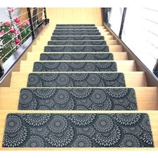 Stair Mats Ultra-Thin with Slip-Resistant Rubber Backing 9x26in
