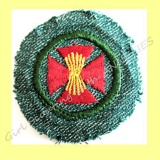 FARM SAFETY 1940s Girl Scout RARE Badge Patch Haystack Maltese Cross NEW Combine