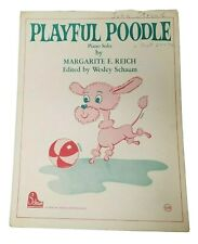 Playful 1968 Vintage Schaum Publications Pink Poodle Sheet Music for Piano Q1