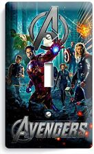 AVENGERS CAPTAIN AMERICA THOR HULK HAWKEYE SINGLE LIGHT SWITCH WALL PLATE COVER