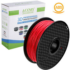 ACENIX® ABS 3D Printer Filaments 1.75mm 2.2LBS/1KG with Spool Red ABS Filament