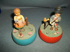 Two Vintage Wooden Music Boxes Reuge Switzerland
