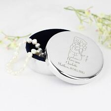 Me to You Personalised Round Trinket Box Gift Personal Message Tatty Teddy