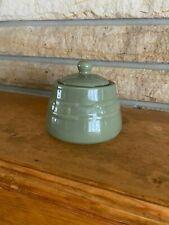 Longaberger Sage Green Sugar Bowl w/Lid