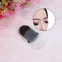 Mini Blusher Makeup Brush Portable Travel Soft Telescopic Single Face-Founda *u